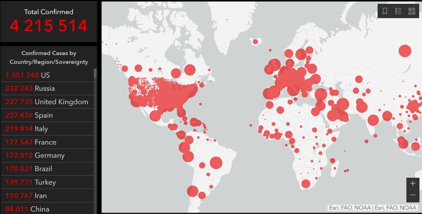 світ коронавірус 12 травня