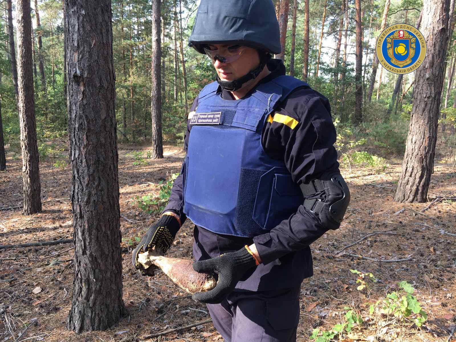 Черкащани, збираючи гриби, виявили мінометну міну