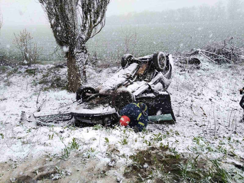 На Черкащині через погодні умови стались три ДТП із постраждалими