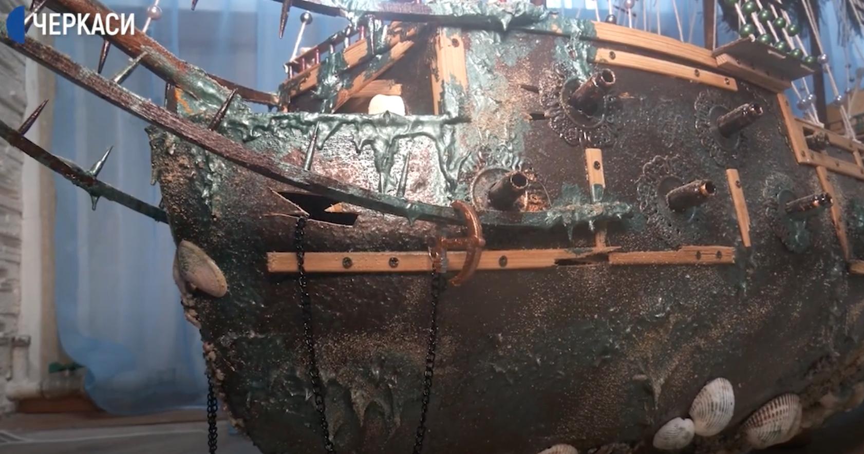Уманчанин створює моделі кораблів (ВІДЕО)
